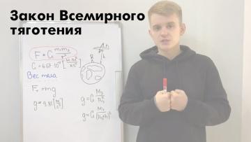 Закон Всемирного тяготения. Урок 6. Курс физики для подготовки к ЕГЭ
